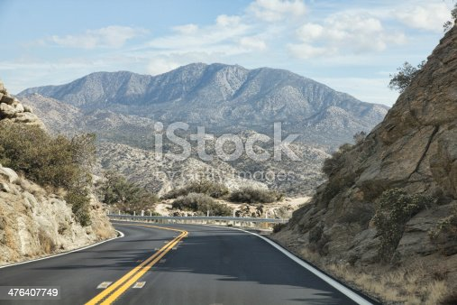 Driving the mountainous and sometimes quite dangerous California Highway S22, also known as the Montezuma-Borrego Highway running through the Anza-Borrego State Park.