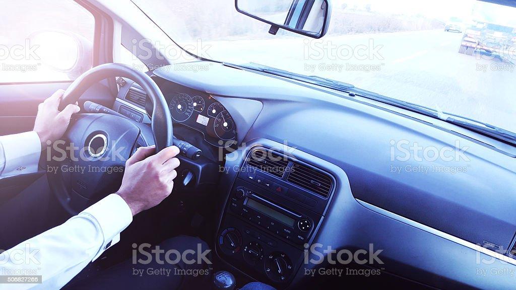Conducción de coche - foto de stock