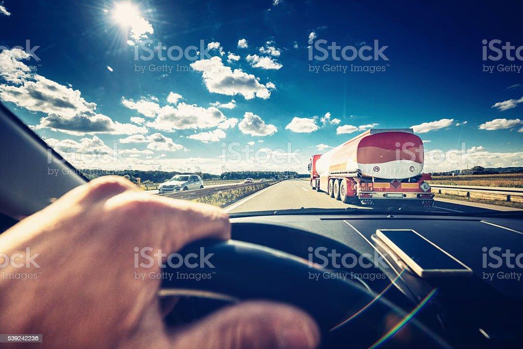 Dirigindo carro de foto royalty-free