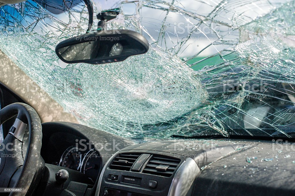 Driving collision aftermath insurance concept auto accident stock photo