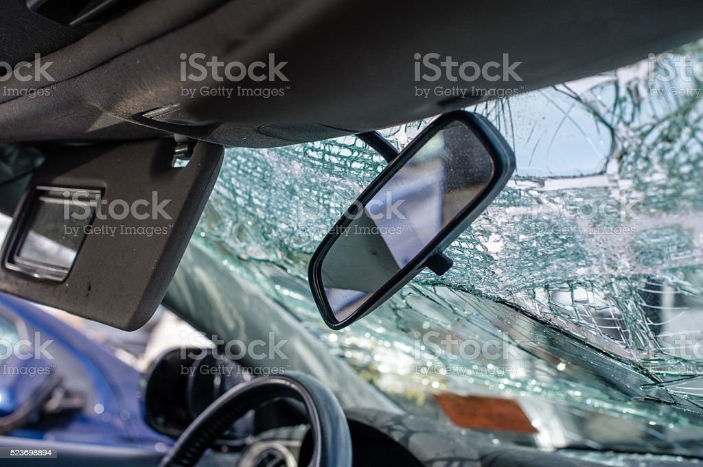Driving collision aftermath insurance concept auto stock photo