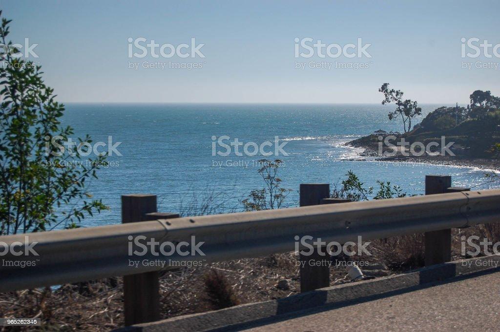 Driving Down The California Coast zbiór zdjęć royalty-free