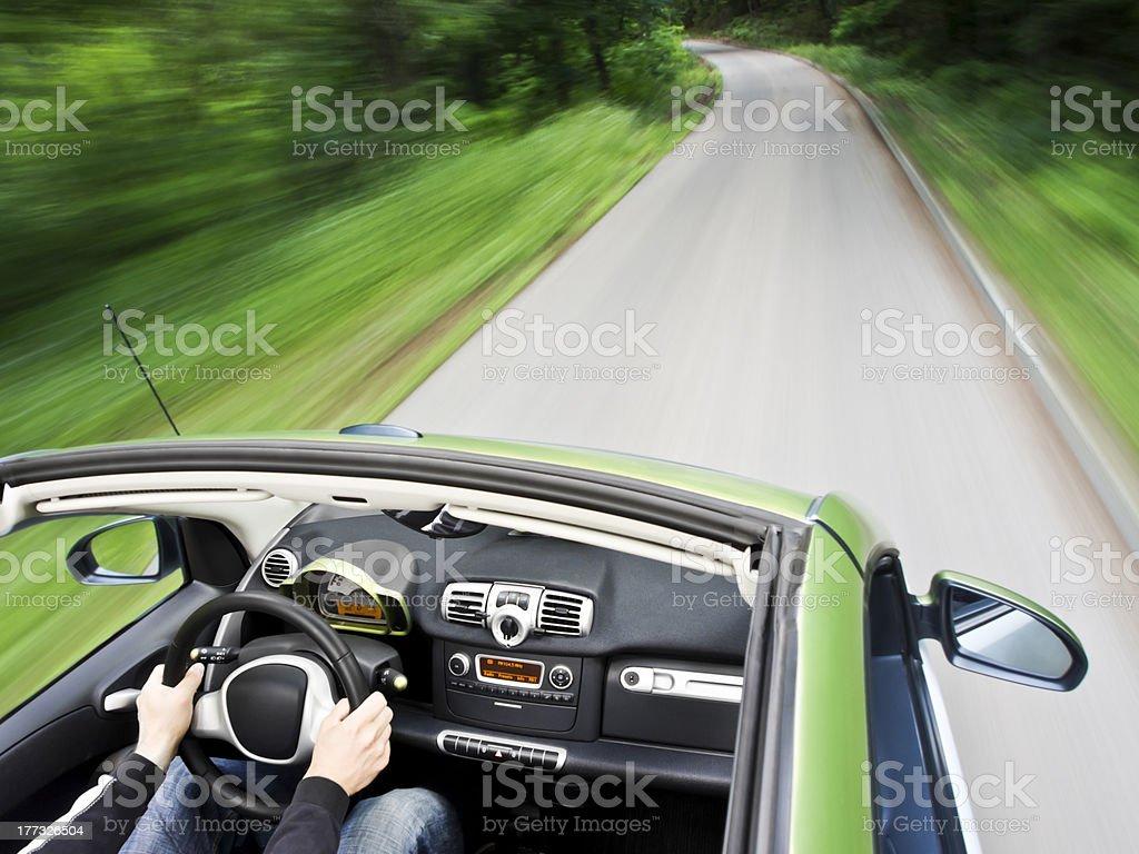 Guida auto elettrica - foto stock