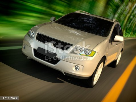 istock SUV driving forest road 171109466