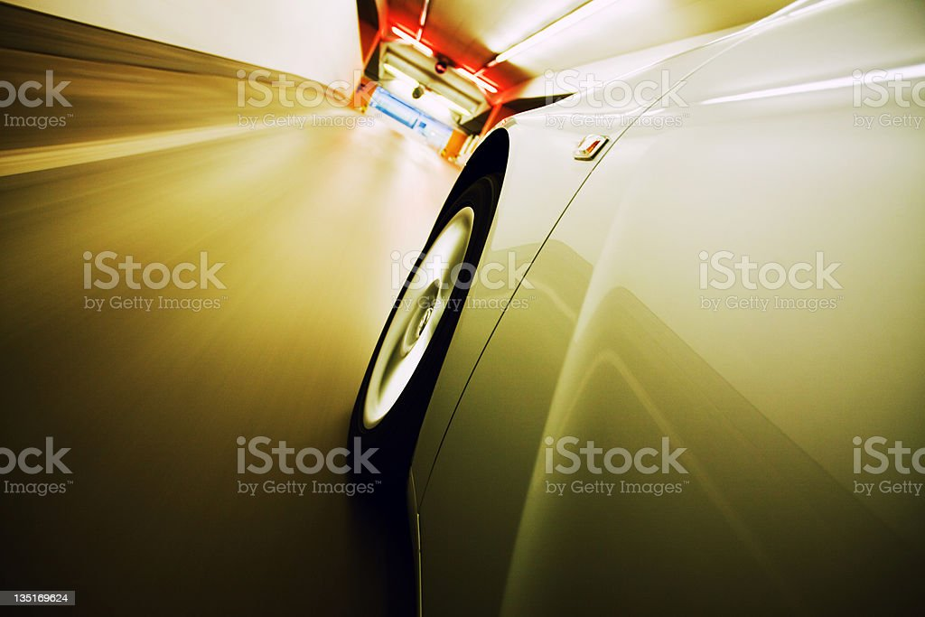 Driving from the garage royalty-free stock photo
