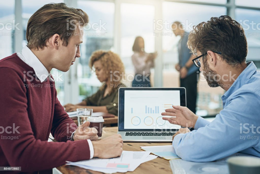 Driving growth with tech and teamwork stock photo