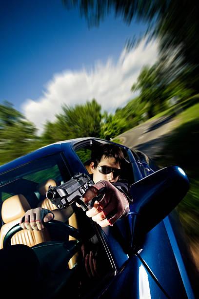 driving gun kampf - 1m coupe stock-fotos und bilder