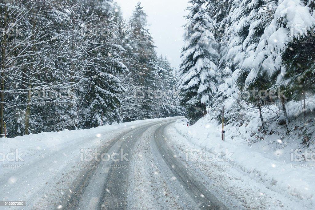 Driving Home For Christmas stock photo
