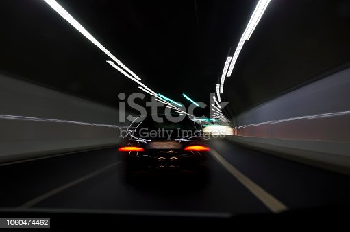 Driving in a tunnel in the central Bulgaria