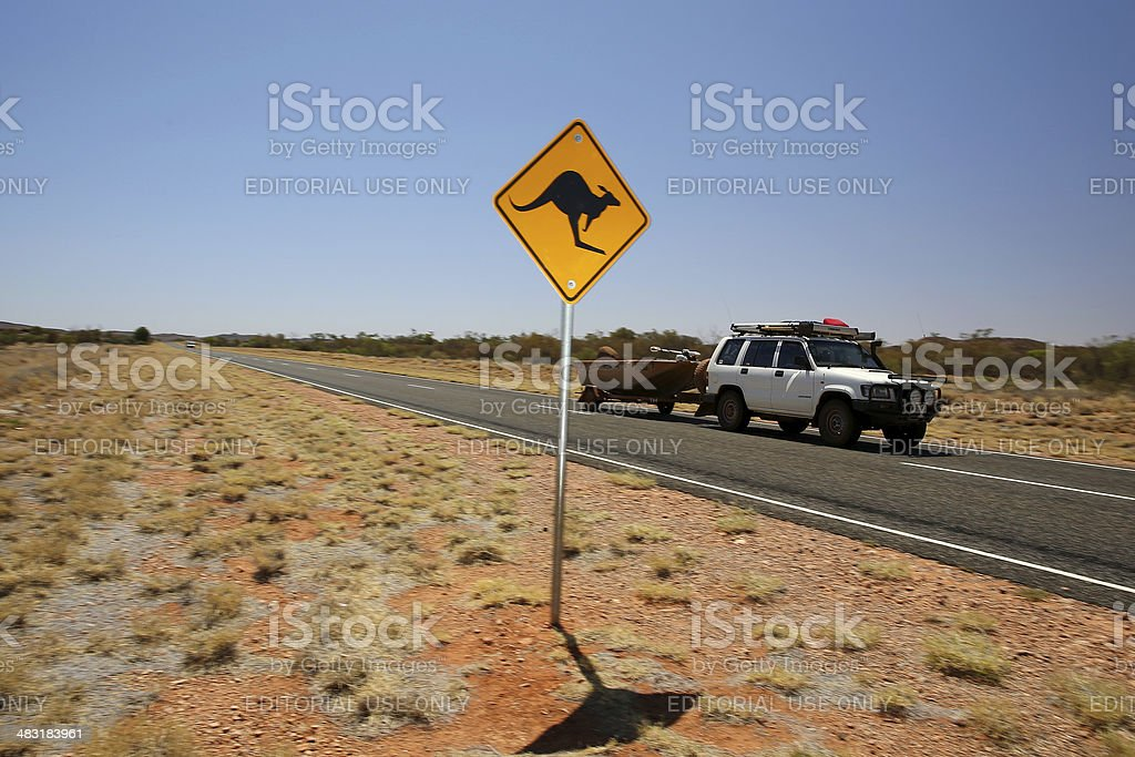 4WD Driving in Outback Australia stock photo