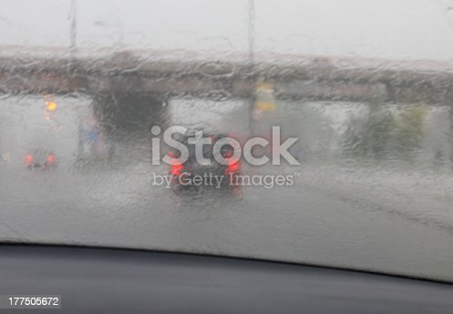1054750504 istock photo Driving in rainy weather 177505672
