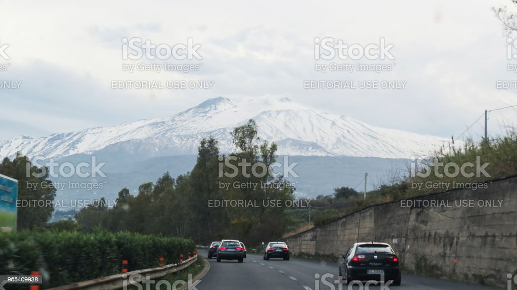 Driving in Sicily, Italy zbiór zdjęć royalty-free