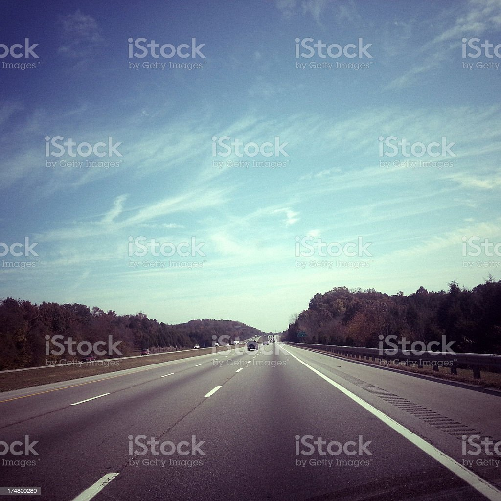 Driving in Tennessee royalty-free stock photo