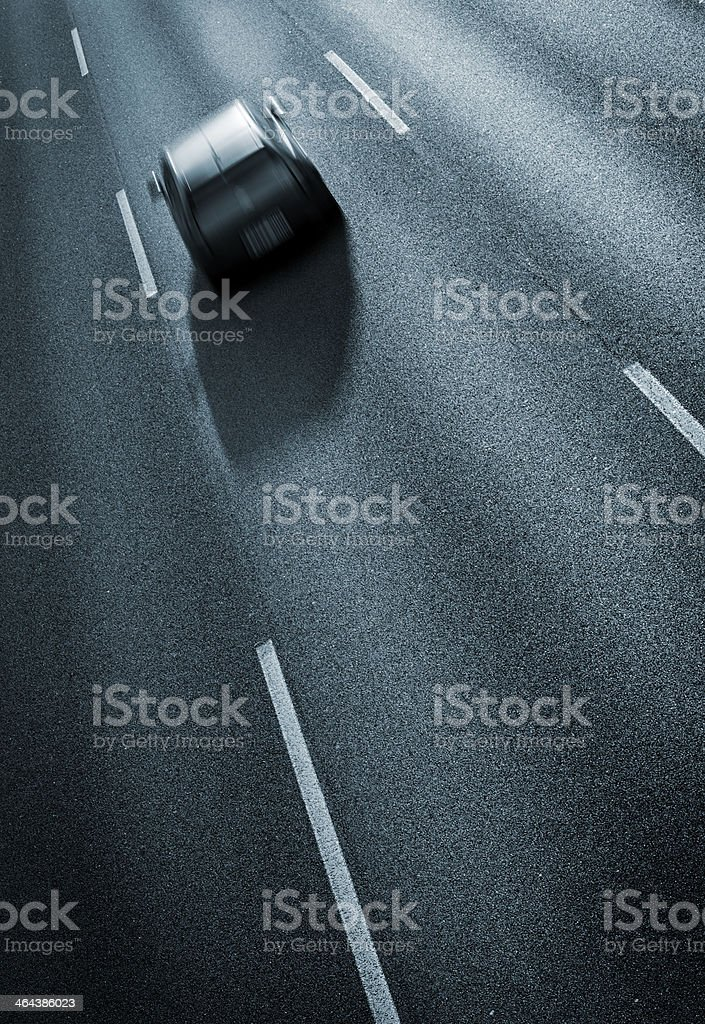 Driving in the highway royalty-free stock photo