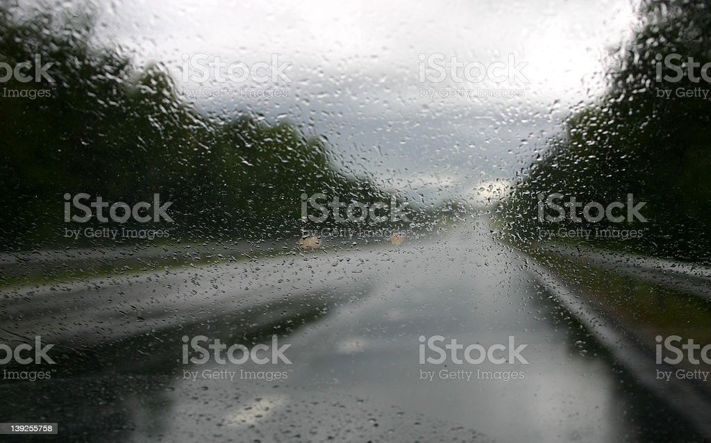 Driving in the rain V royalty-free stock photo