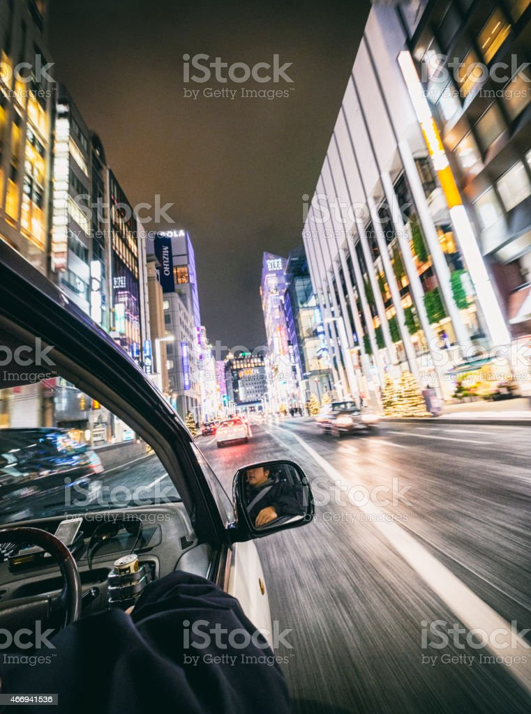 Driving in Tokyo stock photo