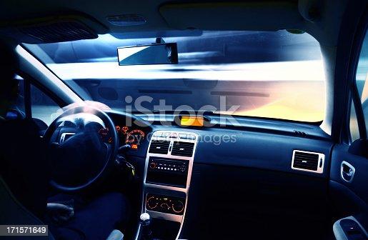 istock Driving in urban scene 171571649