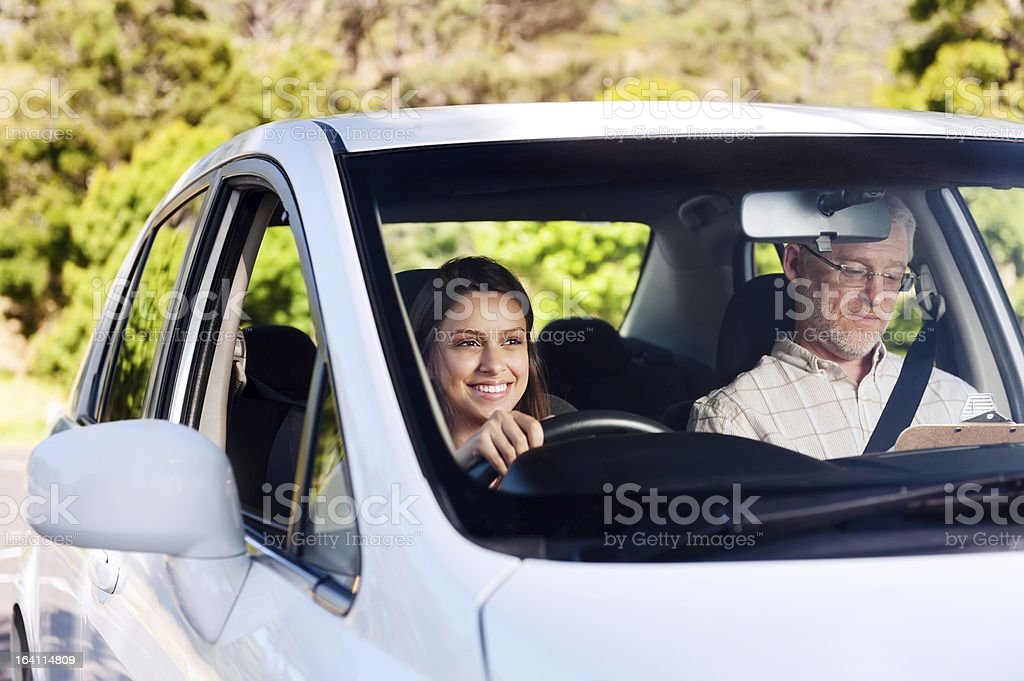 Driving lesson stock photo