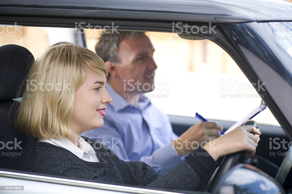 driving lesson royalty-free stock photo