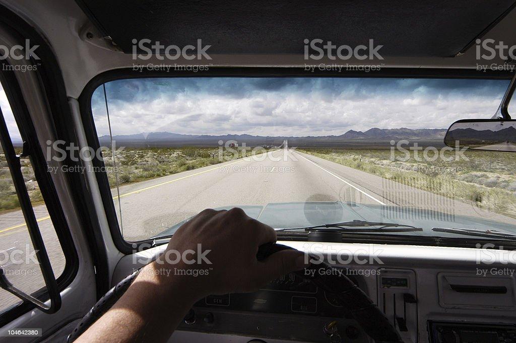 Driving my truck in Arizona royalty-free stock photo
