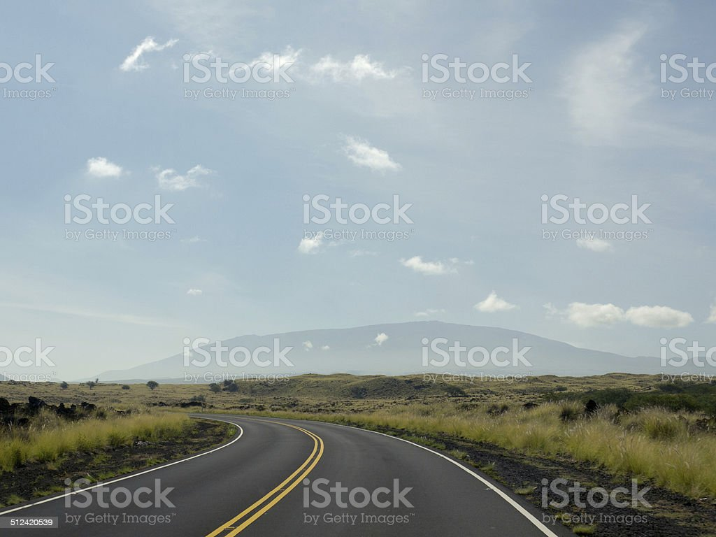 Driving on hawaiian road stock photo