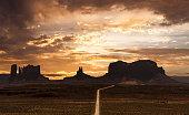 istock Driving on highway 163 towards Sentinel Mesa at Oljato-Monument Valley in Arizona, USA 1335411039