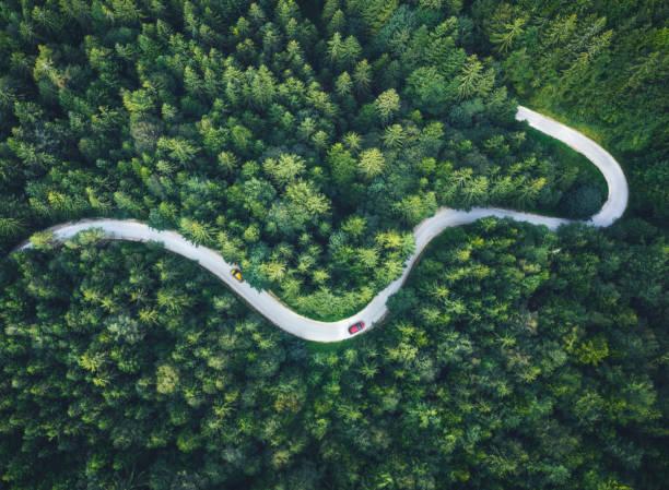 Driving On Idyllic Roads stock photo