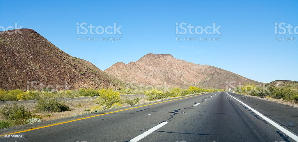 Driving on Interstate-10 stock photo