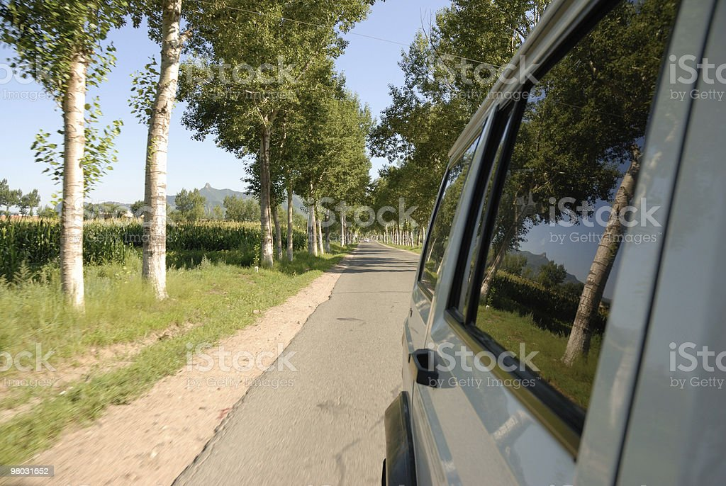 driving on road royalty-free stock photo