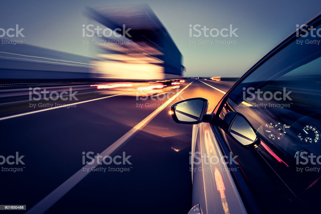 Driving on the road - foto stock