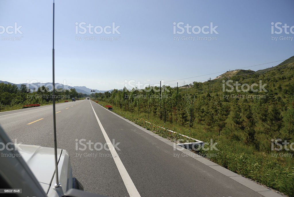 driving on the road royalty-free stock photo