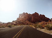 driving on the valley of fire