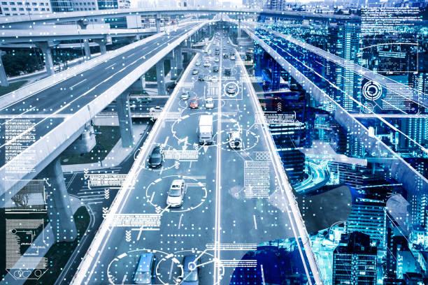 ai ドライビング - 未来都市 ストックフォトと画像