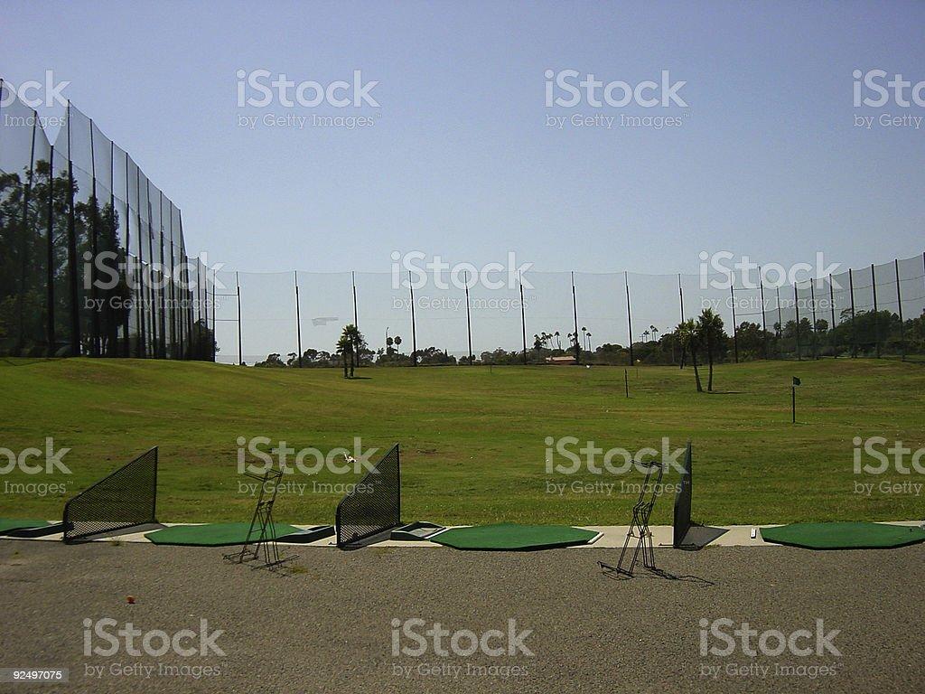 driving range empty 02 royalty-free stock photo