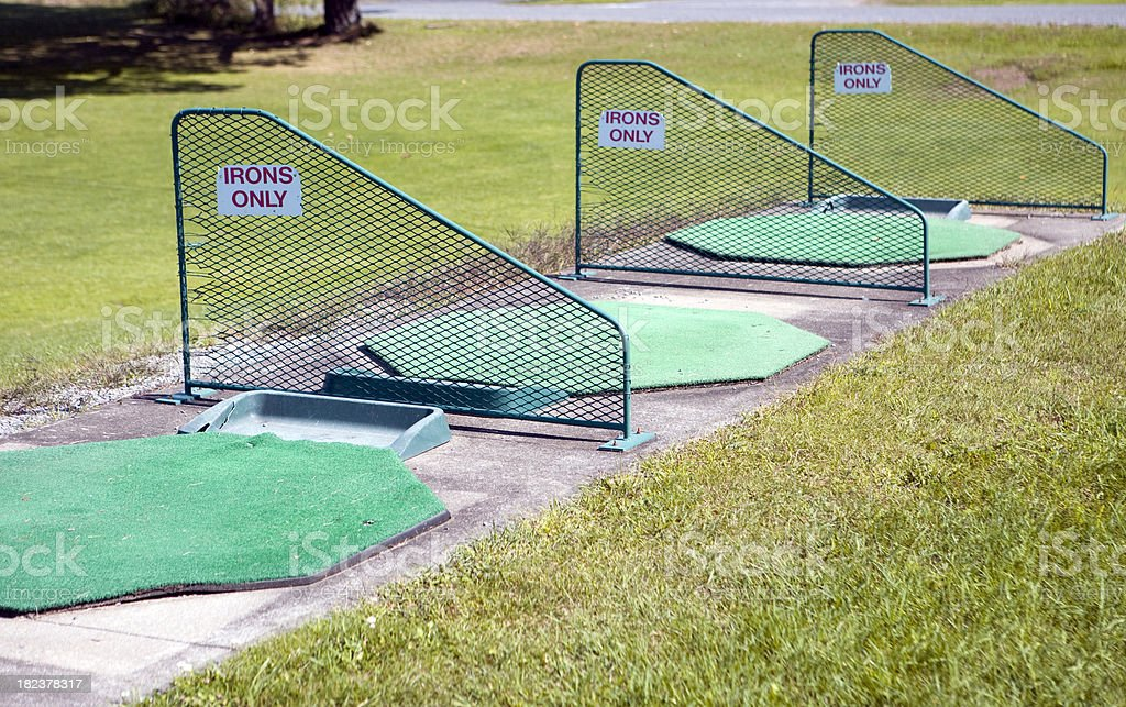driving range royalty-free stock photo