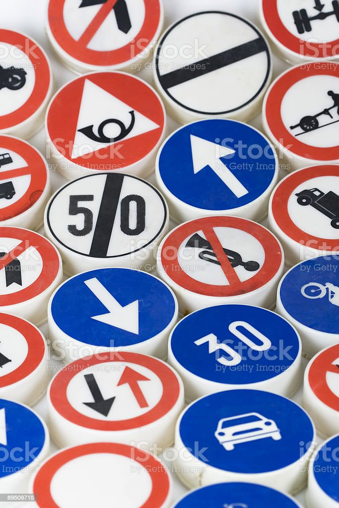 driving signs 免版稅 stock photo