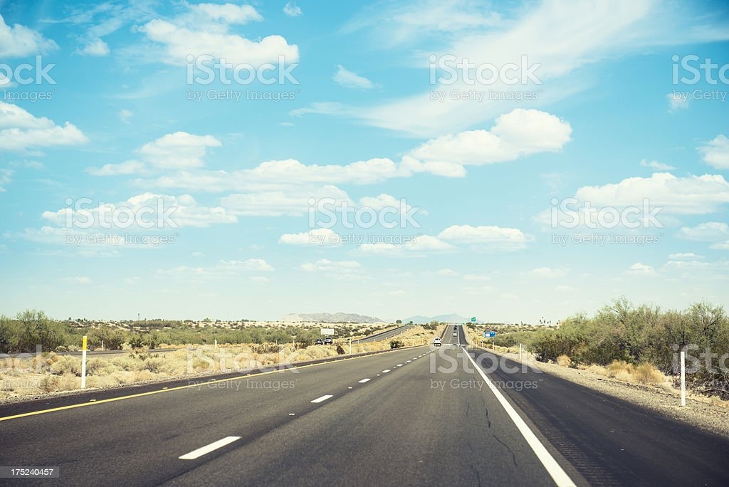 Driving somewhere on the american road - Arizona royalty-free stock photo