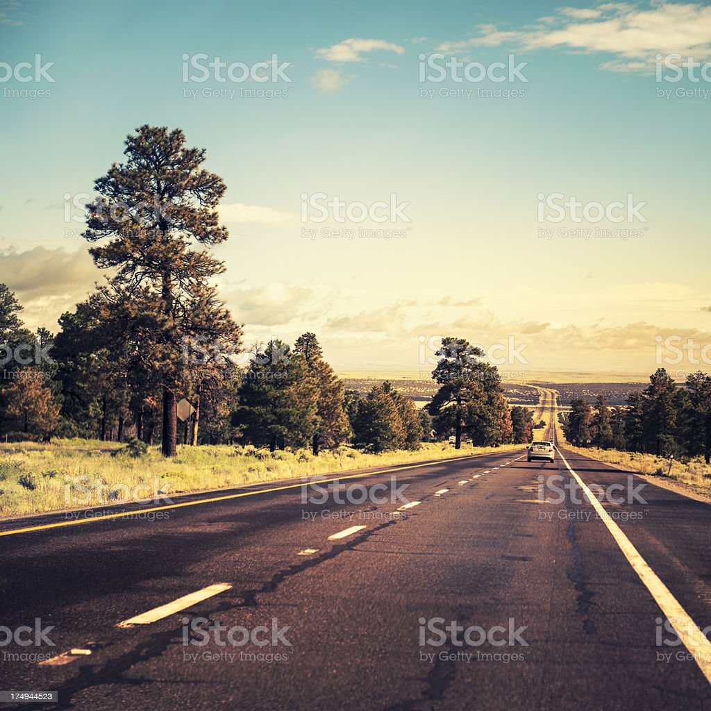 Driving somewhere on the american road royalty-free stock photo