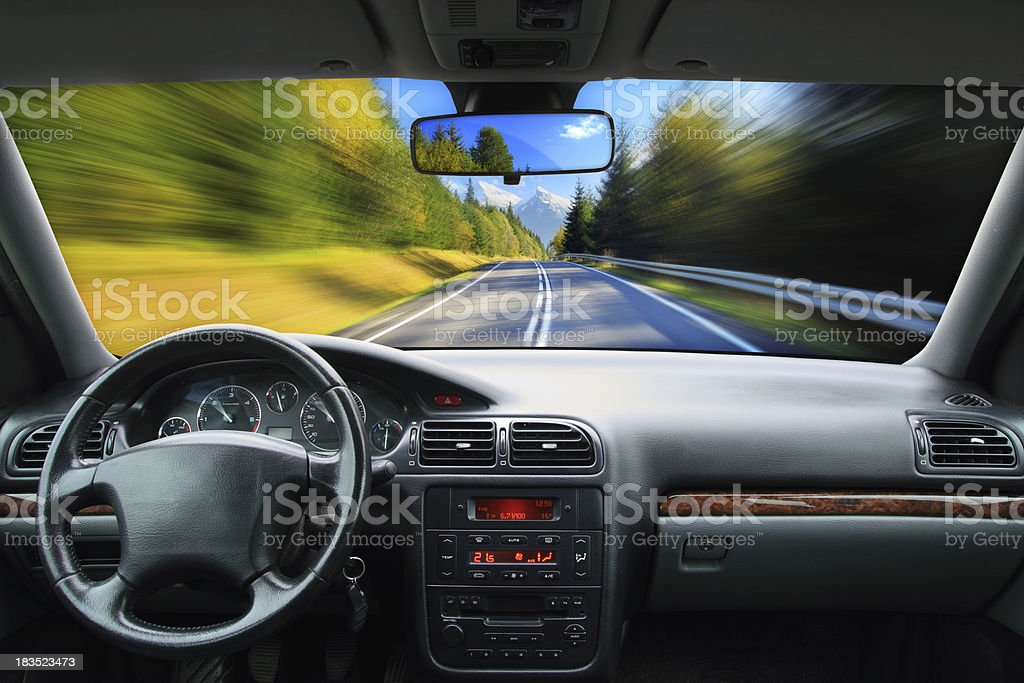 Driving - speed concept stock photo