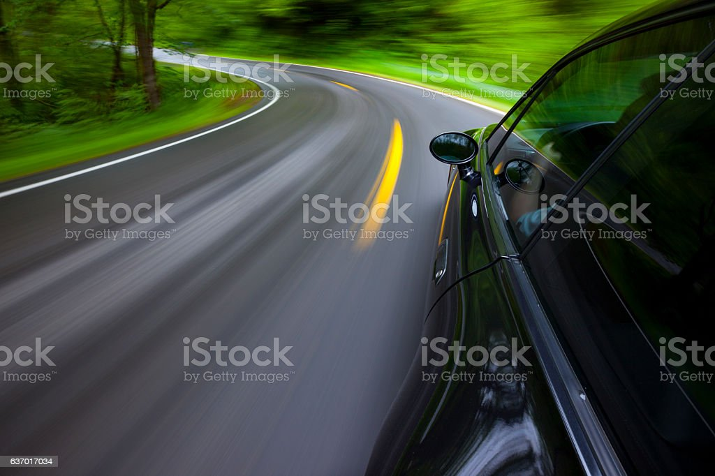 Driving Speeding Road stock photo