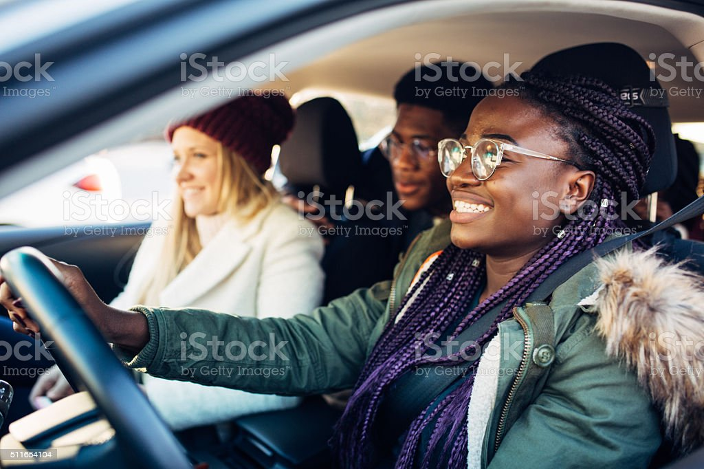 Driving students stock photo
