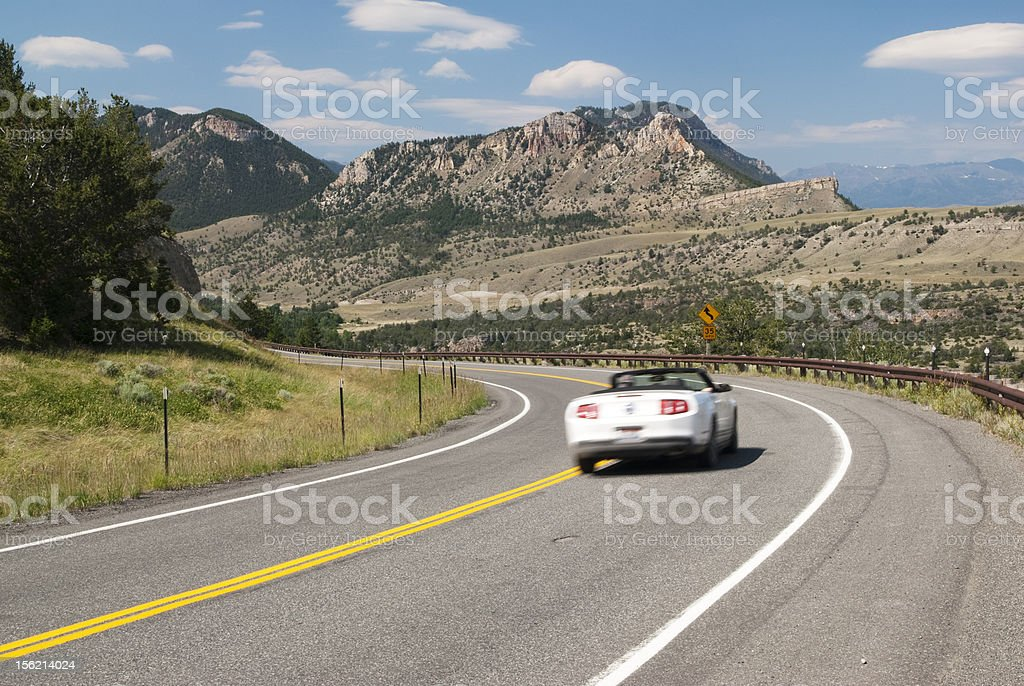 Driving the Chief Joseph stock photo