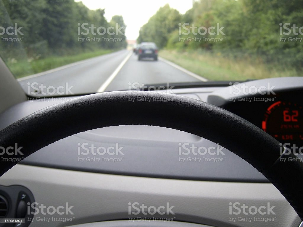 driving the road royalty-free stock photo