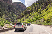 Driving through Glenwood Canyon on Interstate 70