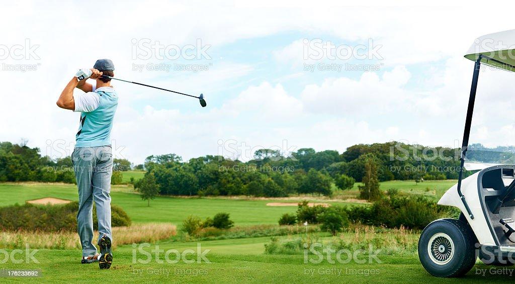 Driving through - Golf stock photo