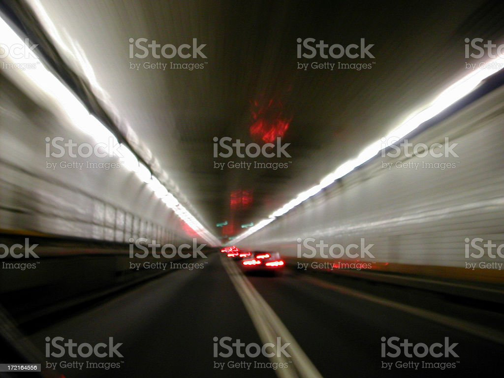 driving through holland tunnel 04 royalty-free stock photo