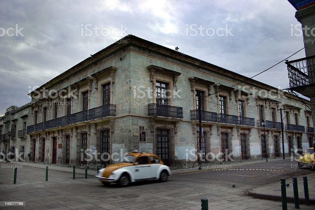 driving through oaxaca stock photo