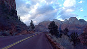 The mountains of Zion Canyon National Park in Utah