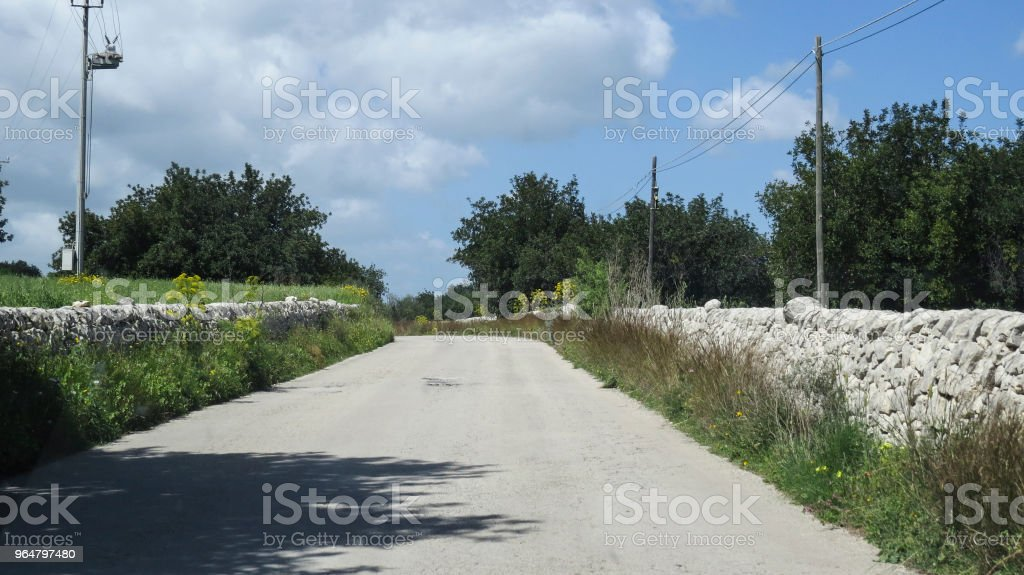 Driving to  Modica, Sicily, Italy royalty-free stock photo