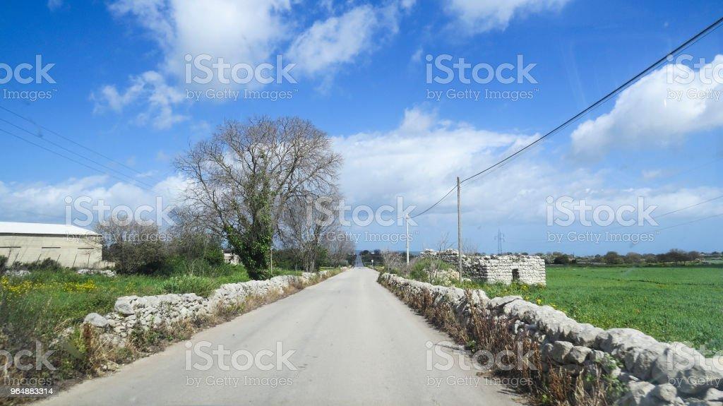 Driving to Noto, Sicily, Italy royalty-free stock photo